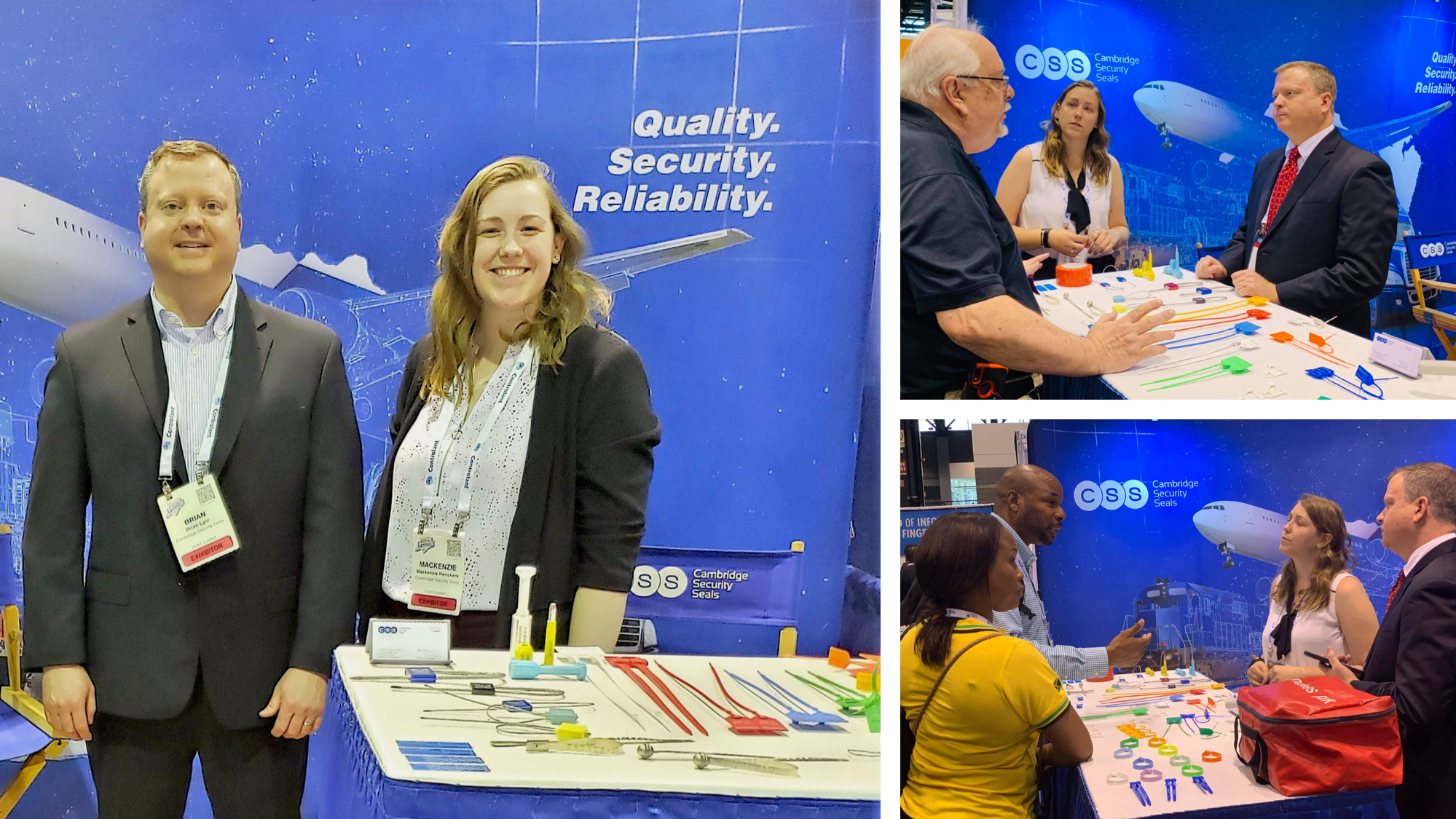 Cambridge Security Seals WTCE 2019 Booth